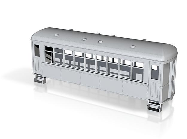 HOn30 doodlebug trailer car  3d printed