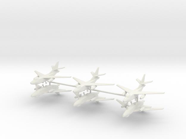 1/400 A-3 Skywarrior (x6) in White Natural Versatile Plastic