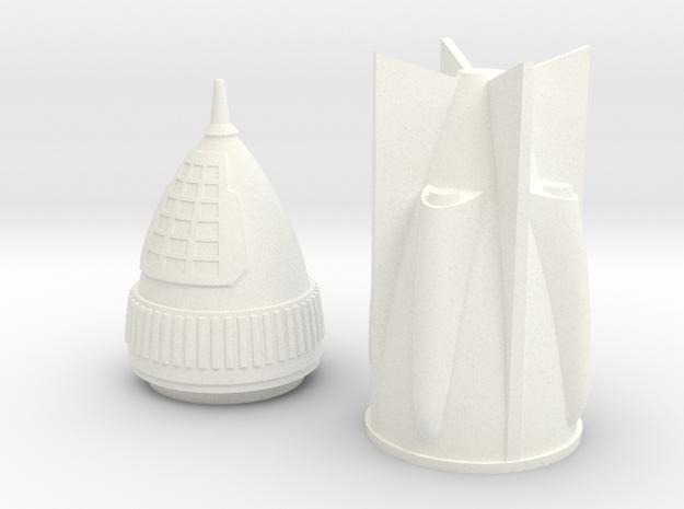Rocket 6 v2 in White Processed Versatile Plastic