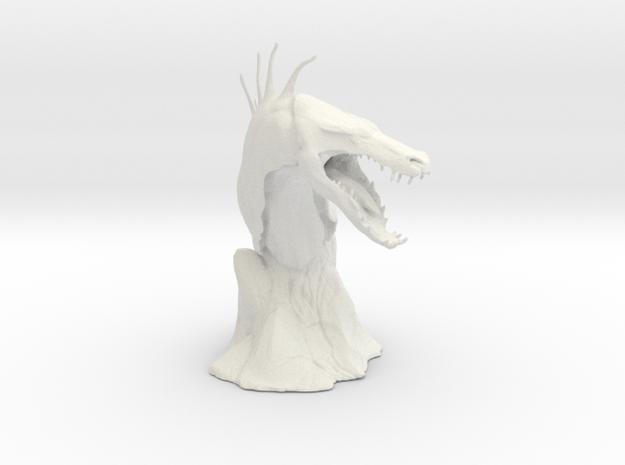 The Tuurasucha - Creature Sculpture (Small) in White Natural Versatile Plastic