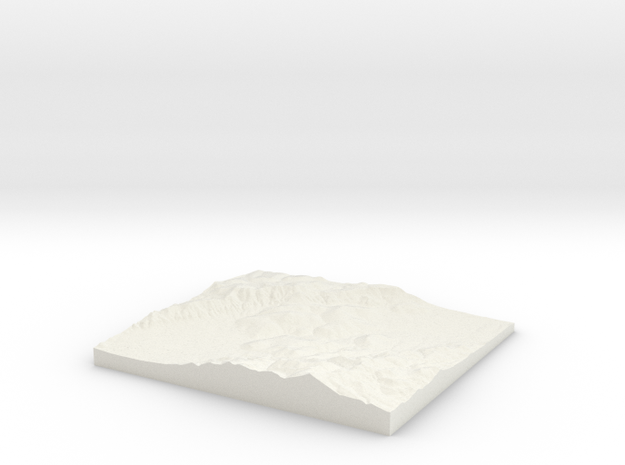 Model of Unknown Location in White Natural Versatile Plastic