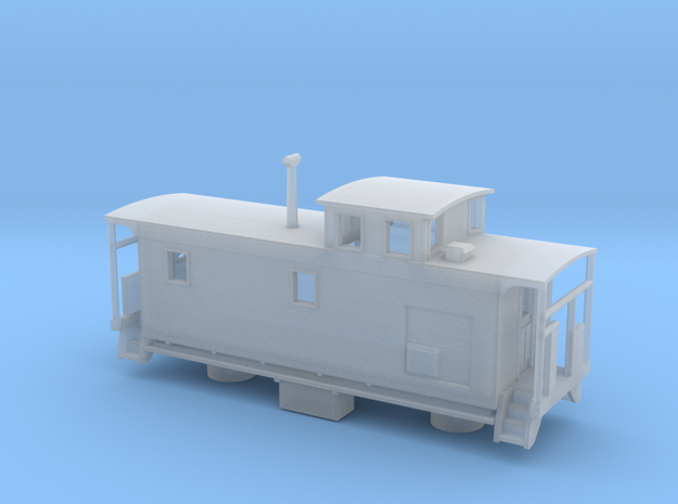 DMIR K1 Steelside Caboose Late - Zscale in Frosted Ultra Detail