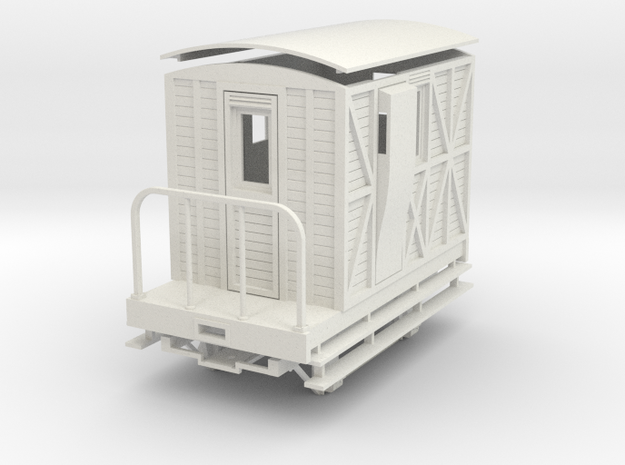 "On16.5 ""woody"" Passenger brake van in White Strong & Flexible"