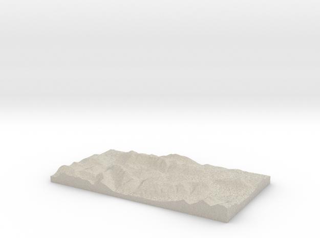 Model of Allt Lairig Eilde 3d printed