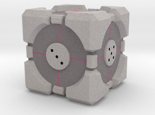 D6 Companion Cube Colored in Full Color Sandstone