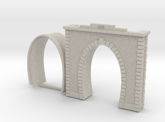 Railway tunnel portal portale galleria Italiana Ho in Natural Sandstone