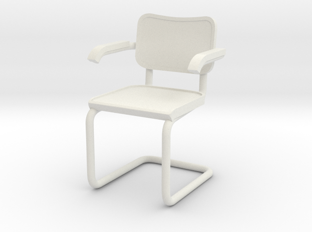 1:24 Breuer Chair (Not Full Size) in White Natural Versatile Plastic