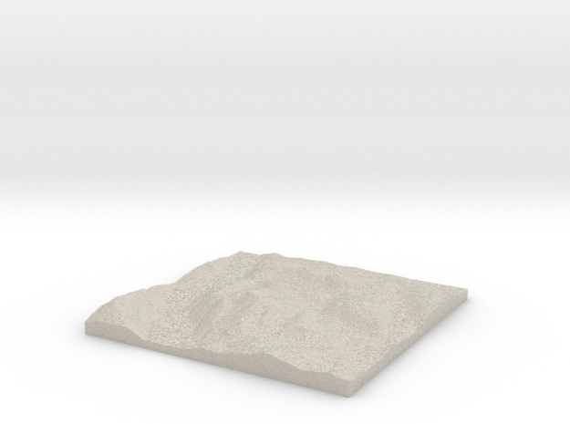 Model of Ben Lomond in Natural Sandstone