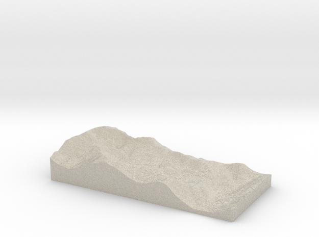 Model of Nantgwynant in Natural Sandstone
