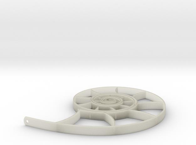 Nautilus Pendant-Earring 3d printed