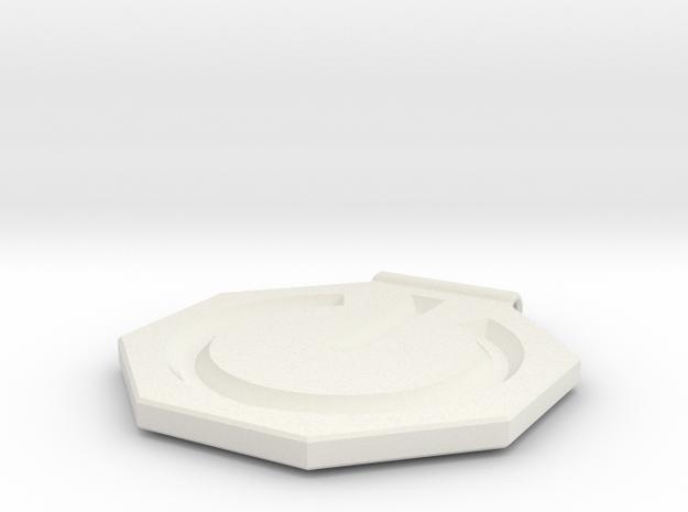 Power Symbol Pendant in White Natural Versatile Plastic