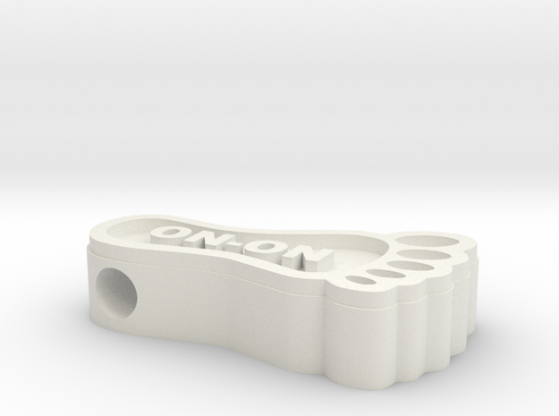 HashFoot Bead in White Strong & Flexible