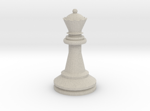 Large Staunton Queen Chesspiece 3d printed