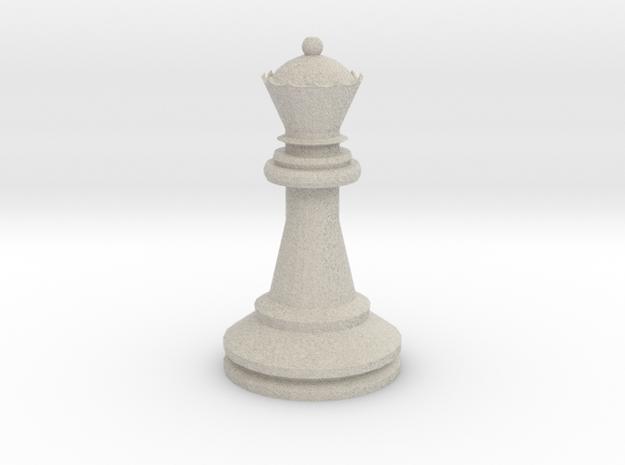 Large Staunton Queen Chesspiece in Sandstone