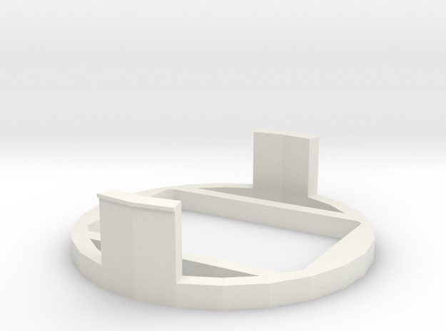 PiDOF Adapter holder (Nikon ext tube int dia 54mm) in White Strong & Flexible