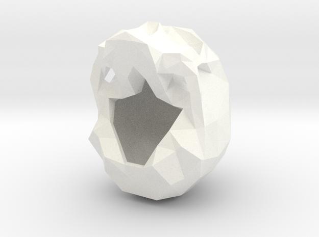 Skull Pendant Large  in White Processed Versatile Plastic
