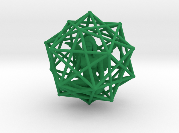 Solar Angel Starship: Sacred Geometry Dodecahedral 3d printed