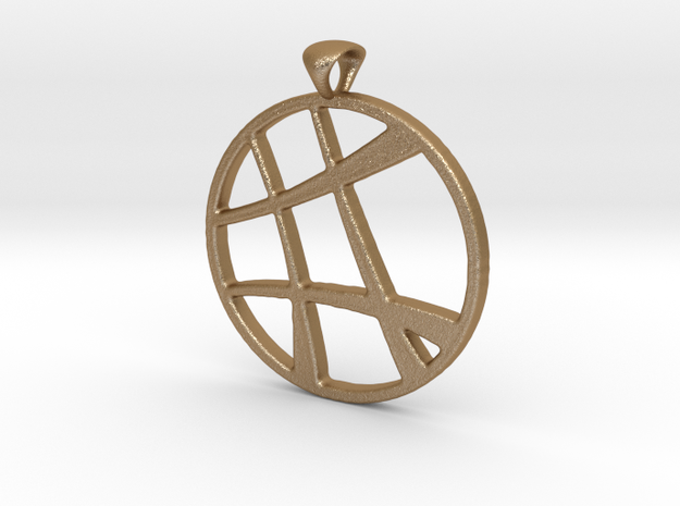 Lines Pendant 3mm 3d printed