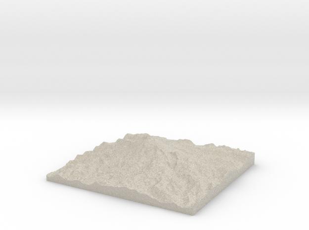 Model of Gibraltar Rock 3d printed