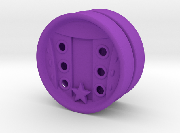 2 Inch Lace Up Your Own Tennis Shoe Plug 3d printed
