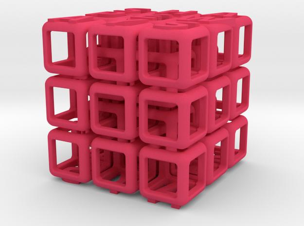 Shapeways Interlocked Cubes 3d printed