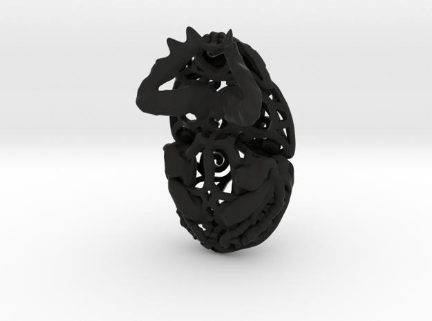Dung Beetle (Scarab) Filagree Pendant 7cm 3d printed
