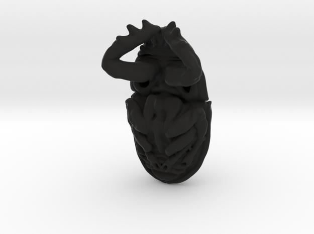Scarab Pendant - Beetle 3.7cm - style 3 3d printed