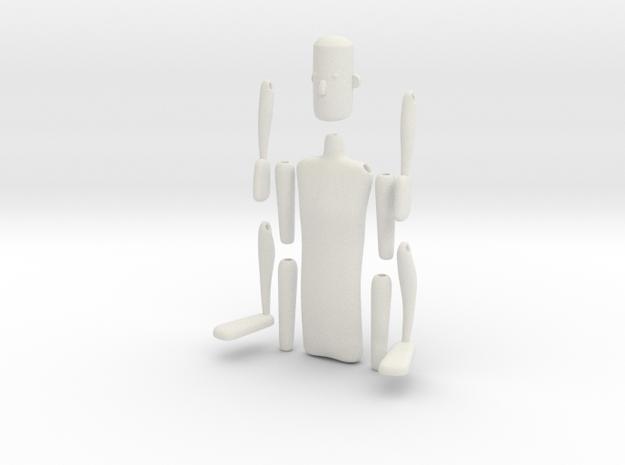 String action figure in White Natural Versatile Plastic