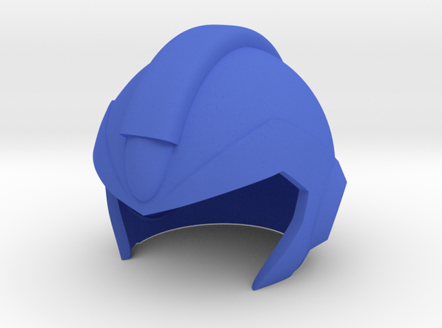 Megaman X Helmet in Blue Strong & Flexible Polished