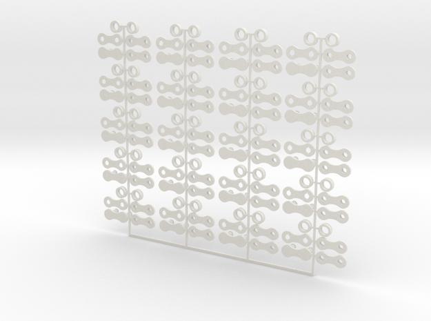 Roller Chain in White Natural Versatile Plastic
