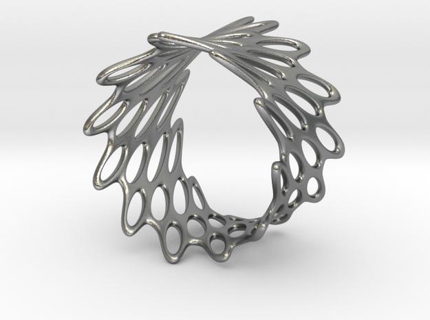 Net Bracelet in Natural Silver