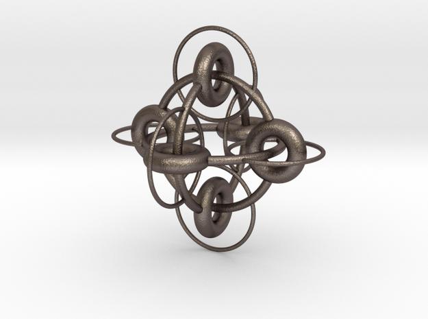 borro variatio III in Polished Bronzed Silver Steel