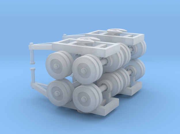Dual Bogie Set - Zscale in Smooth Fine Detail Plastic