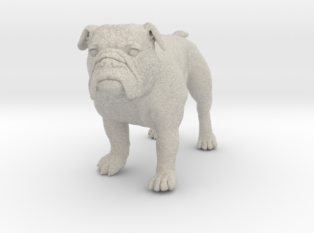 Bulldog L Full Color Sandstone 3d printed