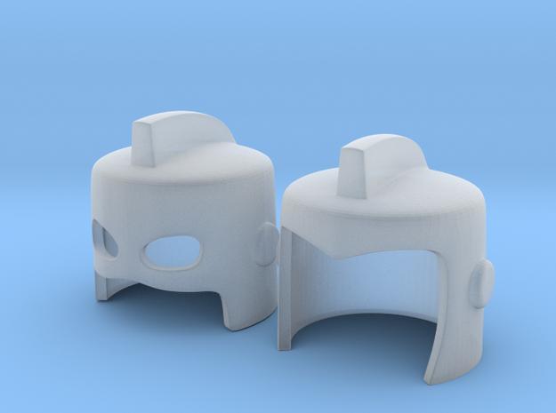 Finned Masks for Minimates V1 in Smooth Fine Detail Plastic