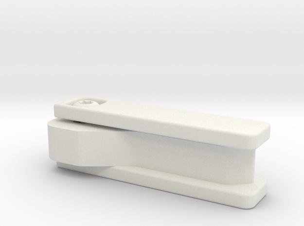 Discrete Key Holder in White Natural Versatile Plastic