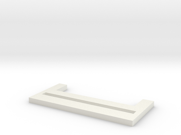 PhotoUpLink Frame Landscape Stand in White Natural Versatile Plastic