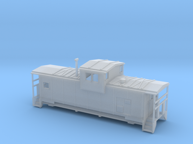 DMIR Modern Caboose - Nscale in Smooth Fine Detail Plastic