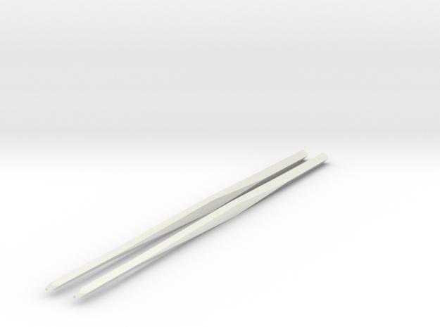 Shapeways Twistedsticks 140mm Long in White Strong & Flexible