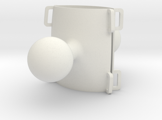 Atom RAM mounts hollow (2) in White Natural Versatile Plastic