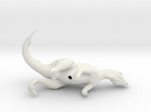 Psittacosaurus (sniffing breeze) 1:12 scale model in White Natural Versatile Plastic