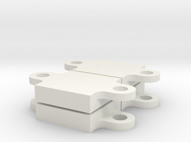 Alpha Gel - Mount 3 - 4 pcs in White Natural Versatile Plastic