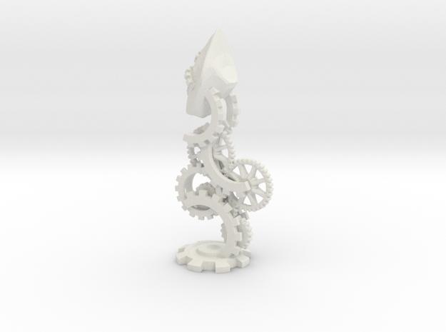 Clockwork Bishop in White Natural Versatile Plastic