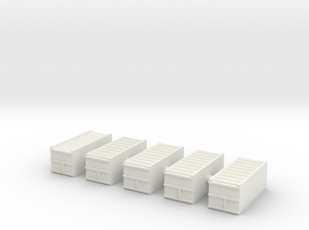 "1/600 20"" Container Stack (x5) in White Natural Versatile Plastic"
