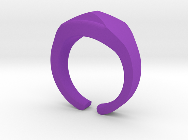 Heavy Ring model 1.2 (size US12: 21,4mm) in Purple Processed Versatile Plastic