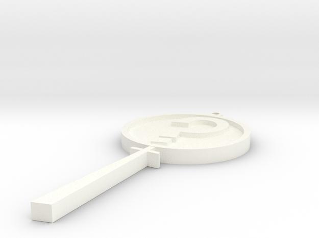 MysteryInc Pendant 3in in White Processed Versatile Plastic