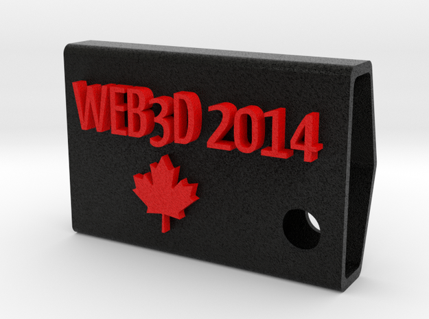 WEB3D 2014 Fob in color in Full Color Sandstone