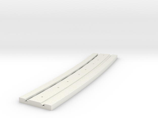 P-165stp-long-curved-y-tram-track-100-pl-3a in White Natural Versatile Plastic