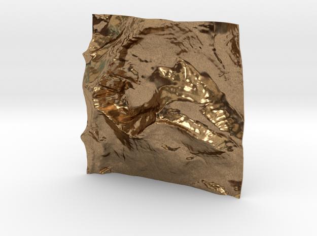 3'' Mt. Wilbur Terrain Model, Montana, USA 3d printed