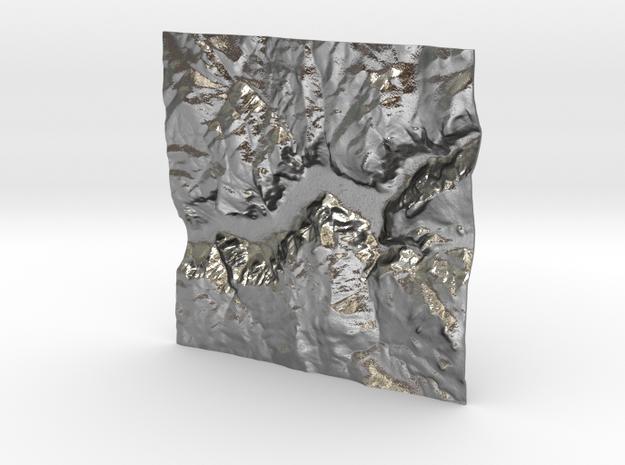 3'' Yosemite Valley Terrain Model, California, USA 3d printed